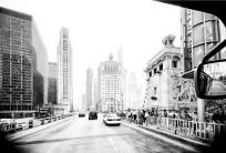Through A Bus Windscreen: Michigan Avenue Southbound